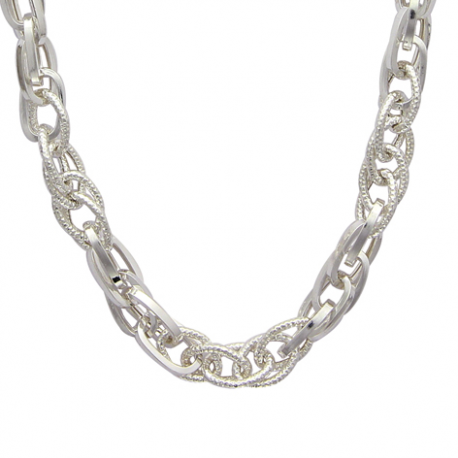 collier argent grosses mailles